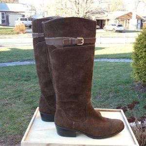 Audrey Brooke Brown Suede Riding Boots Size 10
